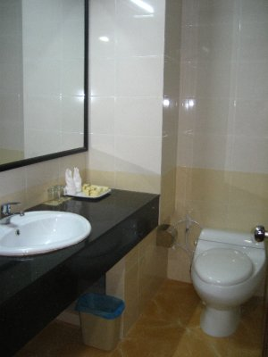 First Room at the Smiling Hotel - Bathroom