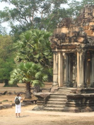 Ken snapping a picture of Angkor Wat