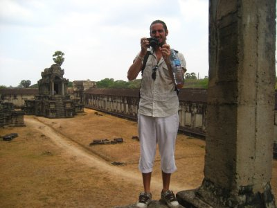 Ken snapping pictures at Angkor Wat