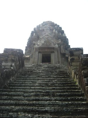 Steep stairs at Angkor Wat