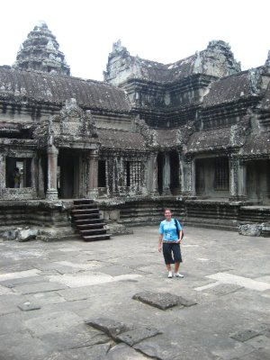 Sarah at Angkor Wat