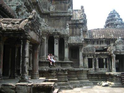 Ken at Clara at Angkor Wat