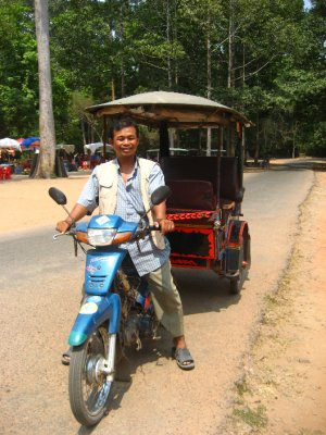 Mr. Lek, our Tuk Tuk driving