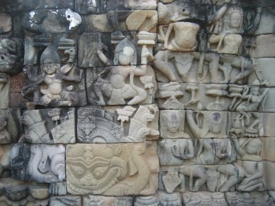 Carvings at Baphuon