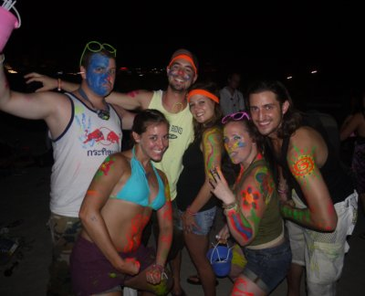 Everyone at the Full Moon Party