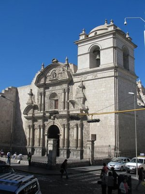 One of the many churches in Arequipa