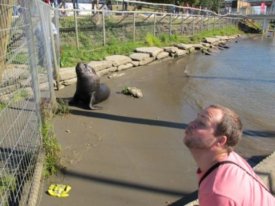 Ben communicating with Bob the Sea Lion!