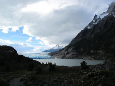 Over the horizon and the first view of Glacier Grey