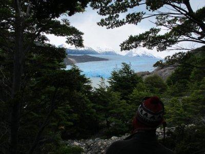 Looking down on Glacier Grey