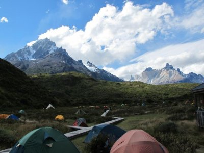 Camping at Paine Grande - not a bad backdrop!