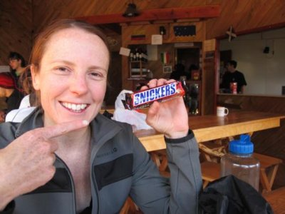 For TDP treks Chelle recommends: Snickers