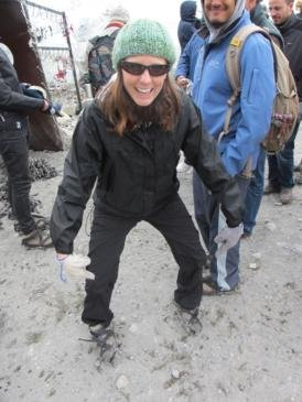 My first experience with crampons!