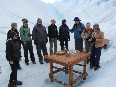 The make-shift glacier bar!