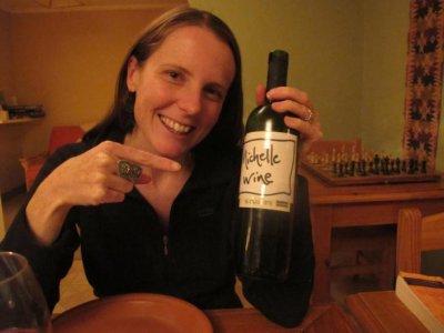 Belen's creative label for Michelle's wine