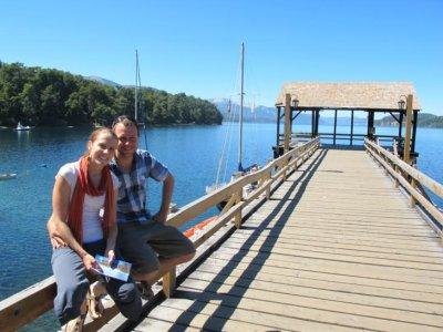 On the northwesters shore of the stunning Lake Nahual Huapi