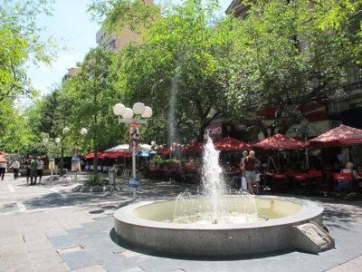 The main restaurant area in downtown Mendoza
