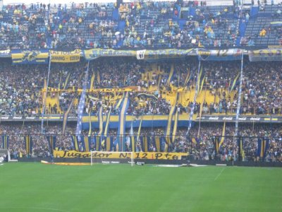 Boca vs River crowd going crazy with the streamers