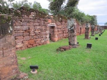 San Ignacious Mini, Jesuit Ruins: Living Quarters (each family had one small room)