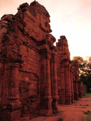 San Ignacious Mini, Jesuit Ruins: The doors to the main temple