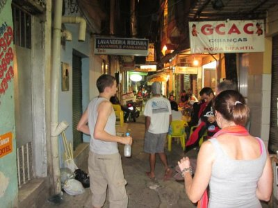 A sneaky shot of street life in the favela