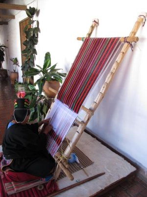 Bolivian textile weaving - meticulous and labour intensive. The women who master it are amazing