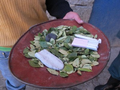 Coca leaves, natural enhancer, cigarettes - breakfast, lunch and dinner