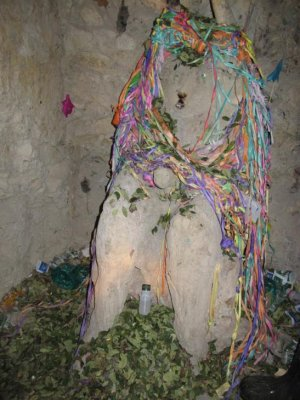 "The rather disturbing ""El Tio"", god of the mines. They believe the devil protects in the mine, God outside - true!"