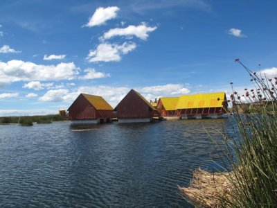 A floating school, Lake Titicaca