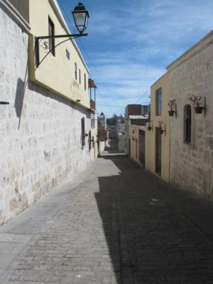 The white washed, super clean streets of Arequipa