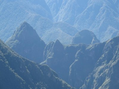 A view of Machu Picchu from the mountain top