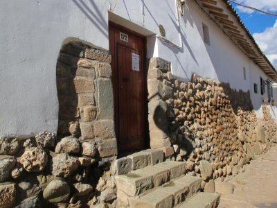 Incan stone walls form part of many buildings in Cusco