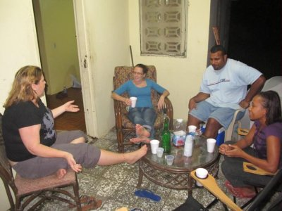 "Hanging out at Senata and Tuks place in the ""camp"". Cuba Libres and long chats to pass the hot, balmy nights."