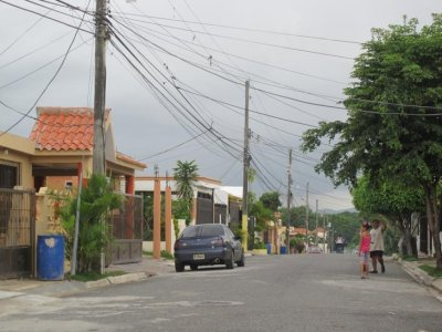 Donna's street and our home in the Dominican. Satellite City, DR
