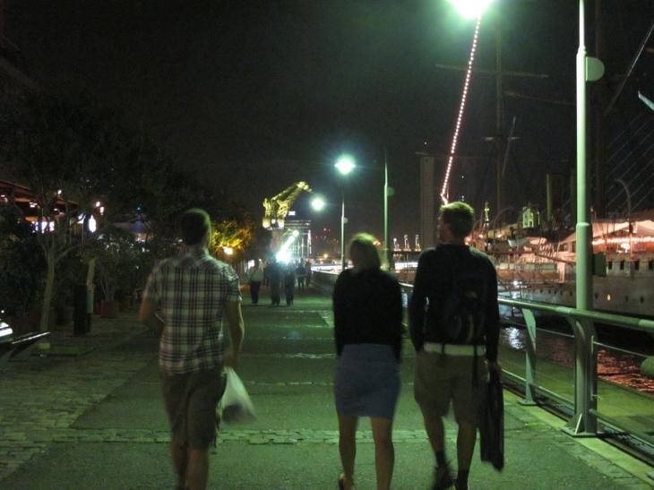 Walking along Puerto Madero