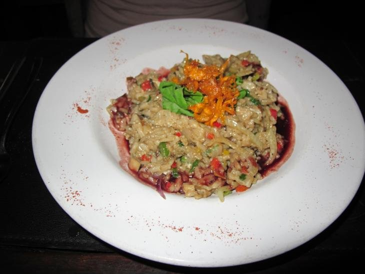 Red wine risotto, mmmm