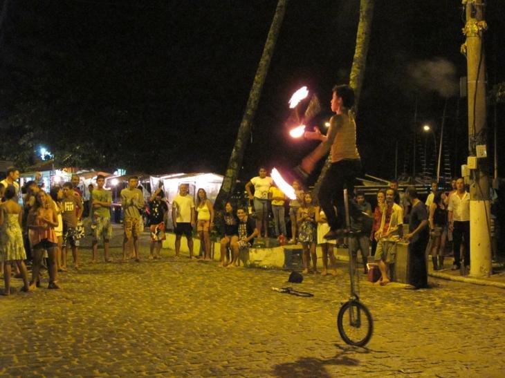 Stree night life on Ilha Grande
