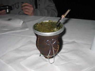 Mate Tea, a strong herbal brew shared between friends