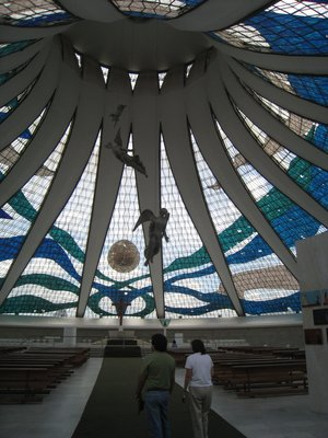 Inside of the Cathedral of Brasilia