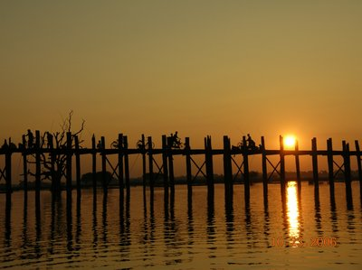 Sunset Over U Bein's Bridge