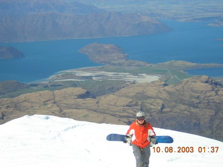 Hiking on Treble Cone, NZ