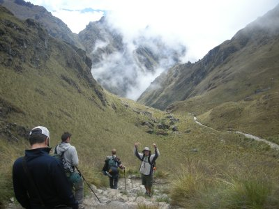 700m down to camp from Dead Womans Pass