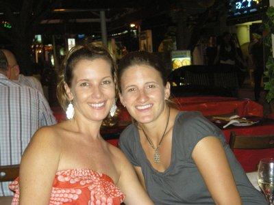 Caz and Sarah at Boat Quay