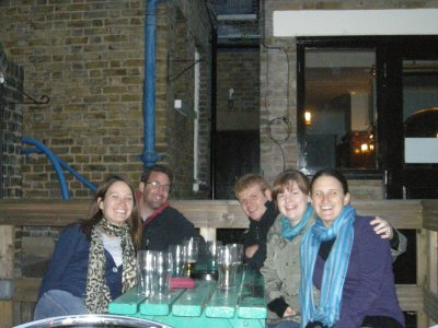 Drinks at the Brixton Bowling Club on the last night in London