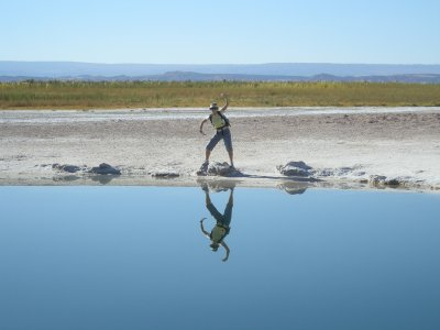 Great reflections in the salt pond