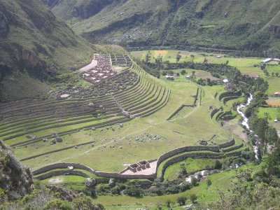 Inca ruin on the path