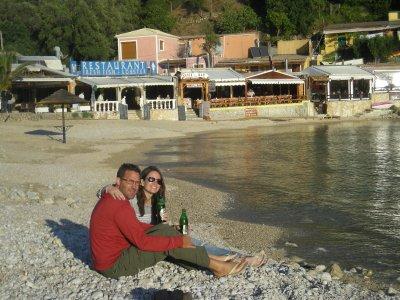 Jill and Seth on our beach