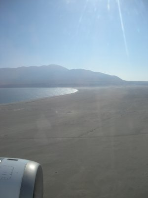 Landing in Antafagasto- amazing coastline