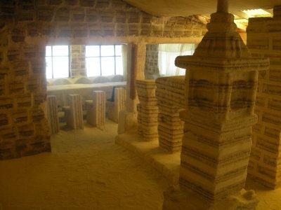 Salt sculptures and furniture in the salt museum