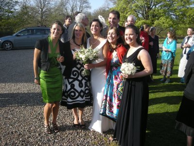 The girls, bride and groom
