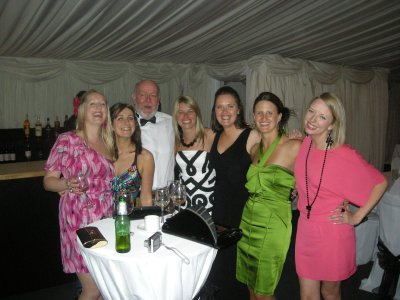 The girls and the brides father, Alan